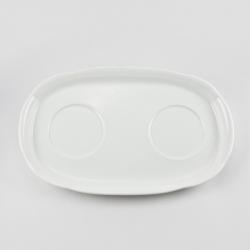 Поднос для двух кружек 24,5х15см «White»
