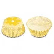 Тарталетки с цветком [50шт], D=50,H=32мм, желт.