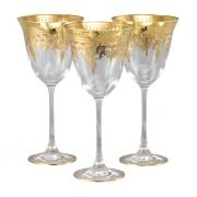 Бокал для вина 6 шт Флора - золото