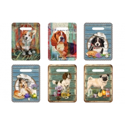 Подставка керамическая (прямоуг.) Собаки в ассортименте