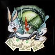 Кролик в капусте.Размер картины:30х30