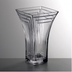 Ваза 25,5 см; «Каскад», кристалайт