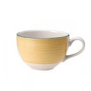 Чашка чайная «Рио Еллоу», фарфор, 225мл, D=9,H=6,L=12см, белый,желт.