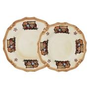 Набор тарелок: суповая + обеденная Садовые цветы