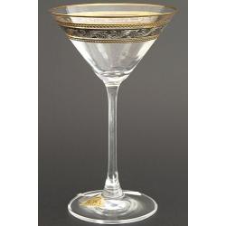 Рюмка для мартини 180 мл «Эсприт» оптика панто декор комбинация платины и золота +золотая кайма по краю рюмки