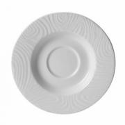 Блюдце «Оптик», фарфор, D=11см, белый