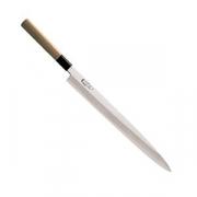 Нож янагиба для сашими, сталь,дерево, L=450/300,B=35мм, металлич.,св. дерево