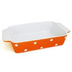 Блюдо прямоугольное с ручками «Горошек» 21,5х30 см