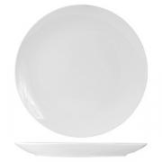 Тарелка мелкая б/борта «Кунстверк», фарфор, D=23см, белый