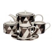 Сервиз чайный 17 предм.на 6 персон «Минотти Черный»