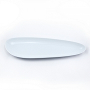 Блюдо удлиненное 13*41см. Муд «Белое»