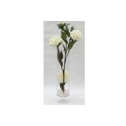Декор.цветы Пионы белые в стекл.вазе