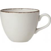 Чашка чайная «Браун дэппл» фарфор; 285мл; белый, коричнев.