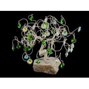 Сувенир в форме дерева, 45 подвесок, высота 21 см.