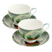Набор чайный, 6 перс, 12 пр, Дама в саду