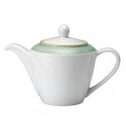Чайник «Рио Грин»; фарфор; 310мл; белый,зелен.
