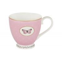 Кружка (розовая) Камея в цветной упаковке