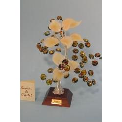 Бонсай с хризантемой топаз, 22см.