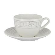 Чашка с блюдцем Venice (белая) без инд.упаковки