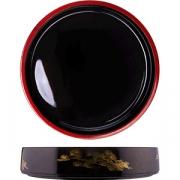 Блюдо-барабан для суши D=30.5, H=6см; черный, желт.