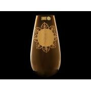 Ваза 32 см коричневая «амулет»