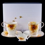 Набор 5 пр чайный на 2 персоны «Бежевая лилия»