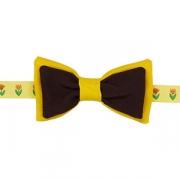 Бабочка для бармена L=11.5, B=6см; коричнев. ,желт.