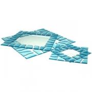 Тарелка «Сафари» 20*20см голубая