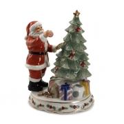 Статуэтка музыкальная 20,3 см Дед Мороз украшает ёлку