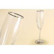 6 бокалов для шампанcкого «Пиза серебро»
