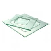 Тарелка квадр «Бордер» 13*13см прозр.
