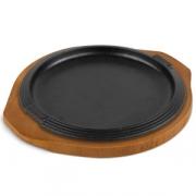 Сковорода для фахитос d=25см чугун с подст