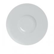 Тарелка мелкая с широк.бортом «Соната», фарфор, D=27см, белый