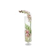 Декоративные цветы Орхидея св. розовая в стекл.вазе