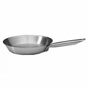 Сковорода, сталь нерж., D=28,H=6,L=52см, металлич.