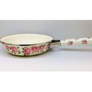 Японская эмалированная сковорода 22 см, серия «Розы»