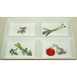 Менажница «Овощи» 30х19 см