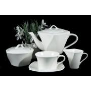 Сервиз чайный из 17 предметов Форте белый