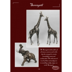Пара жирафов каштан блестящие 54х38 63х45 см.