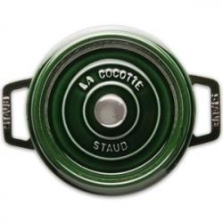 Кастрюля с крышкой чугунная, dia 22 см, 2,6 л, цвет зеленый