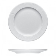 Тарелка мелкая «Карат», фарфор, D=28,H=2см, белый