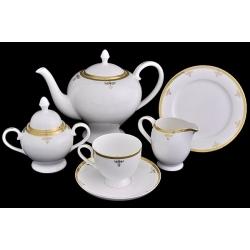 Чайный сервиз «Ампир» 21 предмет на 6 персон