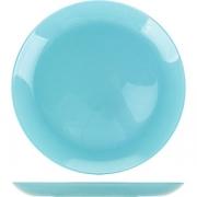Тарелка десерт. «Арти» D=20.5см; голуб.