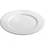 Тарелка мелкая D=17см; белый