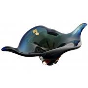 Салатник 43 см синий+амбер«закат»