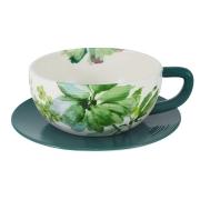 Чашка с блюдцем для завтрака Флора в инд.упаковке