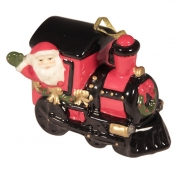 Подвеска 8,5 см Дед Мороз на поезде