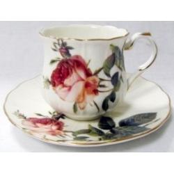 Чашка с блюдцем «Роза Альба», 0.2 л