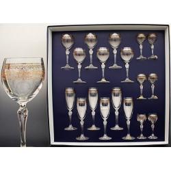 Подарочный набор 18 предметов. «Люция» панто+втертое золото в нижней части декора, в верхней части платина по части декора
