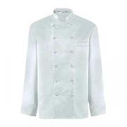 Куртка поварская 42 р.б/пуклей, полиэстер,хлопок, белый